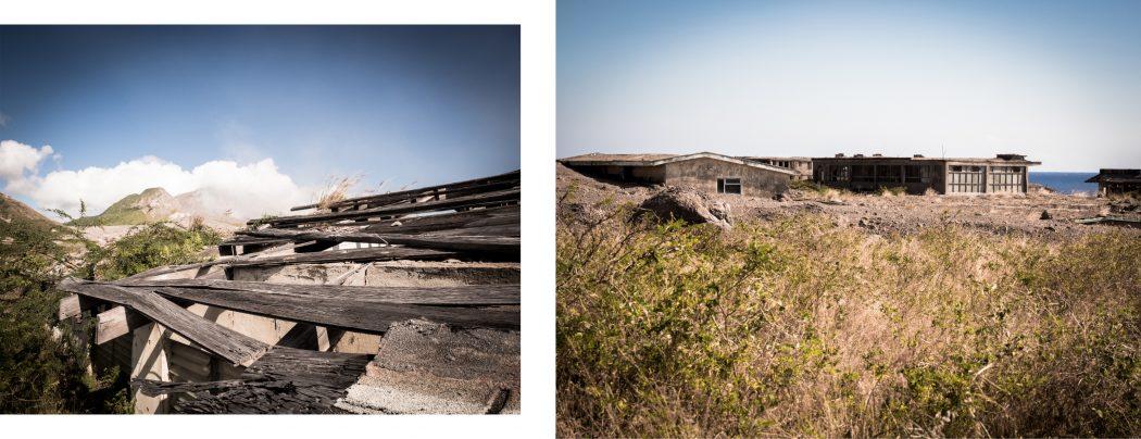 ile de plymouth dans les Antilles- photo du volcan - plymouth