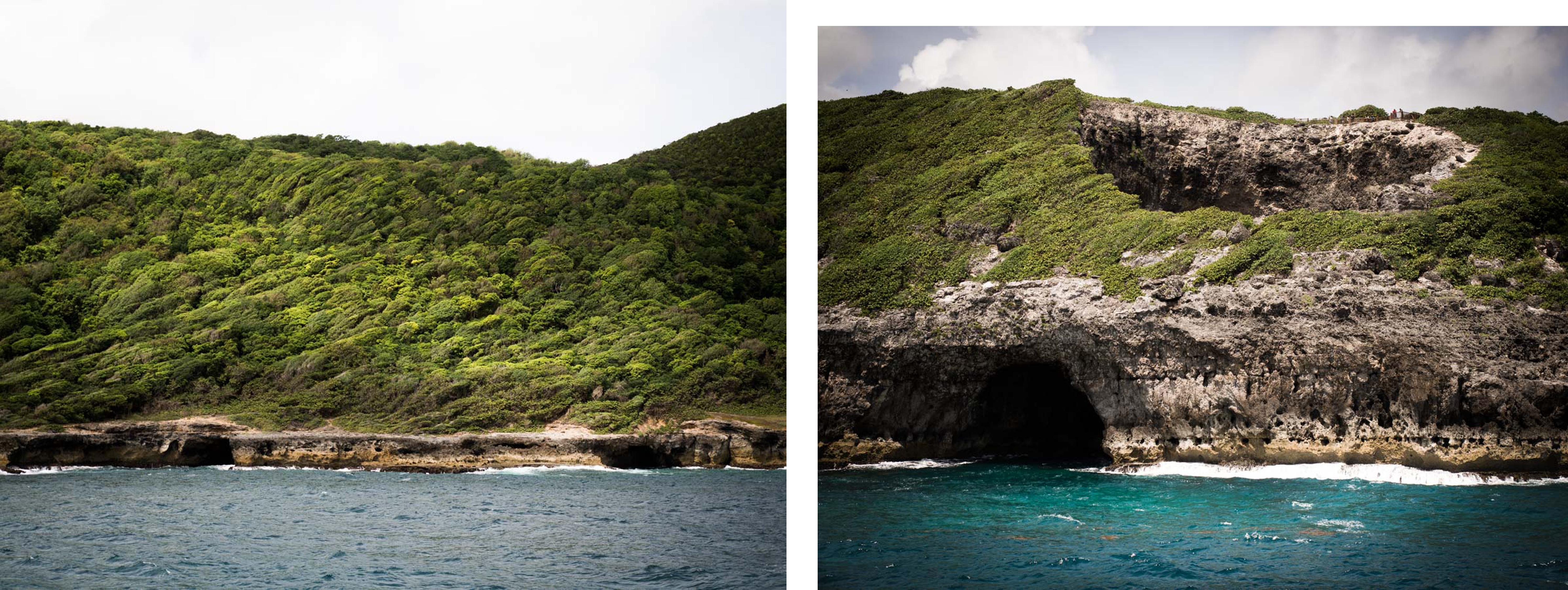 échappée bleue à Marie Galante - gueule grand gouffre vue de la mer - que voir à marie galante