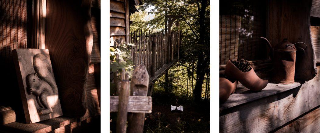 cabane perchée dans les arbres dans les Vosges