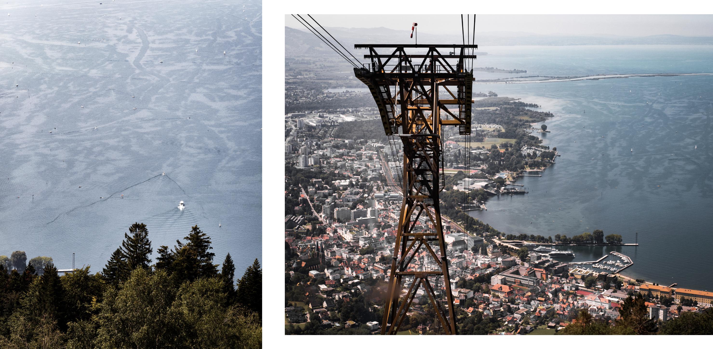 découvrir le lac de Constance - Bodensee ou lac de Constance - découvrir le Pfänder en Autriche - prendre le téléphérique à Bregenz