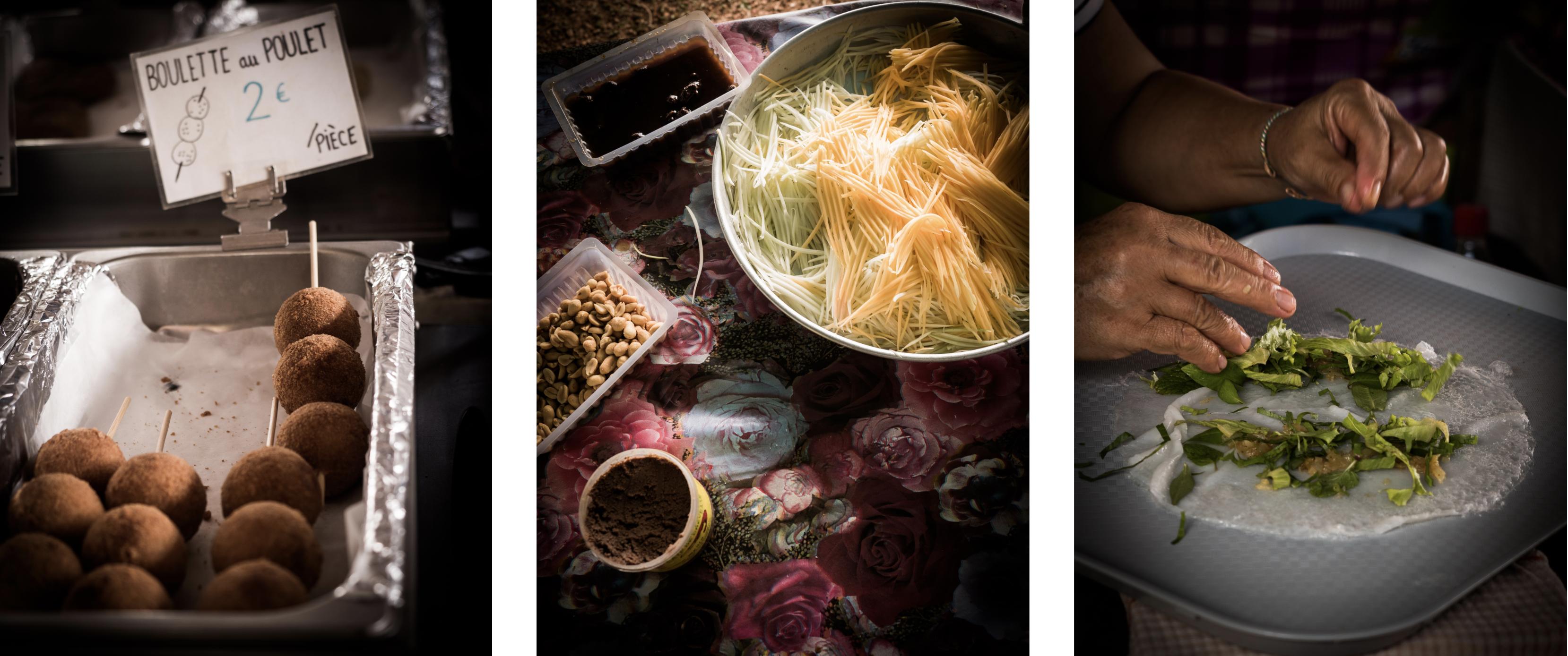 manger au marché Hmong de cacao - une Guyane pluriethnique
