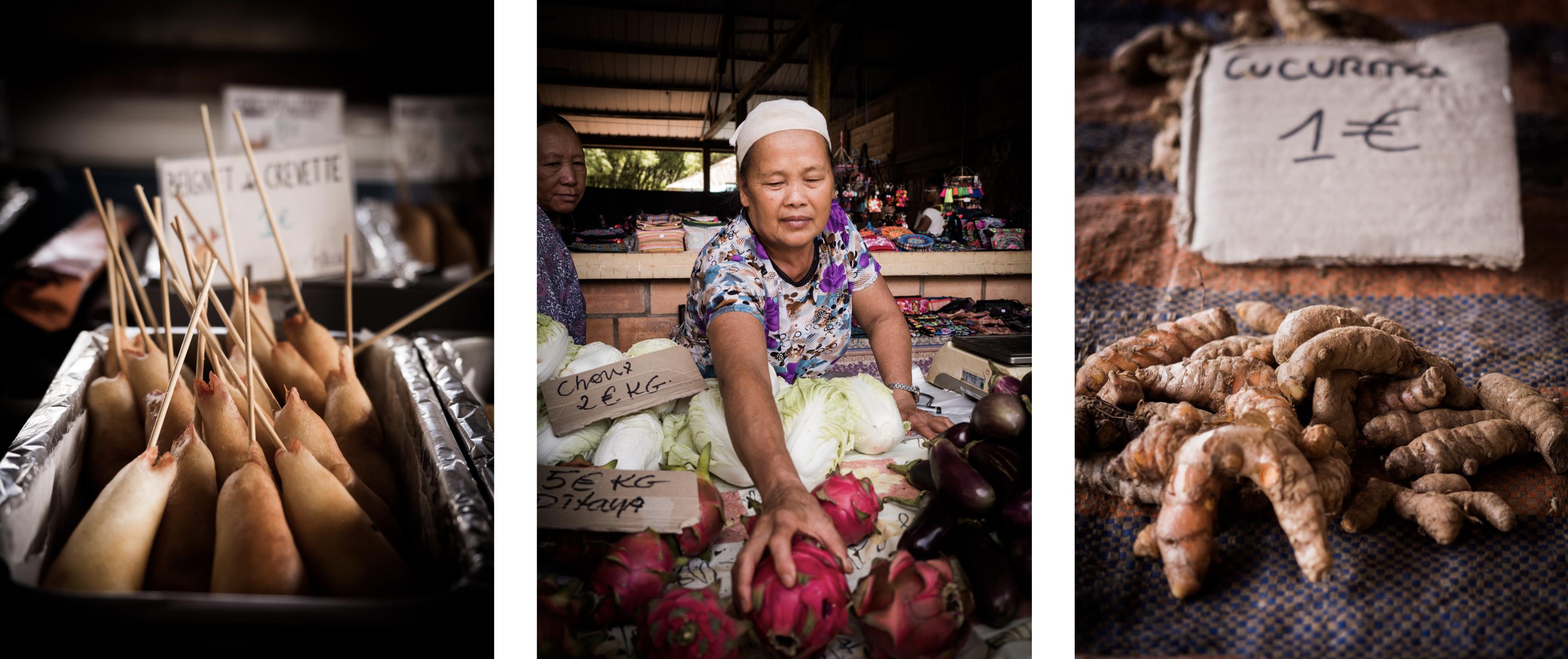 découvrir la Guyane - village Hmong en Guyane - dimanche à cacao - marché Hmong